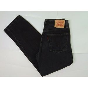 Levi's 550 32 X 32 Black Jeans Relaxed Fit Denim